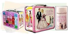 My lunch box in grade school.   I would love to have it again!  Campus Queen lunch box...had a board game on the back.