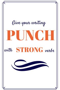 """From the article, """"Ernest Hemingway felt that strong verbs and specific nouns made prose come alive far more than adjective and adverbs. I have to say that I agree. Writing Advice, Writing Resources, Blog Writing, Writing Corner, Writing Styles, Writing Ideas, Creative Writing, Grammar Tips, Grammar And Punctuation"""