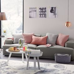 With detailing in the lines and precision to the fine detailing behind the design, the Muuto Connect Grey Fabric Sofa offers a modern touch as well as significant appeal that ensure the furniture will sta Sofa Design, Design Furniture, Living Room Sofa, Living Room Furniture, Living Rooms, Room Interior, Interior Design, Unique Sofas, Trendy Home Decor
