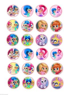 24 SHIMMER & SHINE MARSHMALLOW FAIRY CAKE CUPCAKE TOPPERS WAFER CARD RICE PAPER in Crafts, Cake Decorating | eBay
