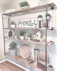 Awesome farmhouse bookshelf design and decor ideas (1)