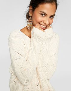 Pull coton chenille loose Work Wardrobe, Spring Summer 2018, Buy Now, Knitwear, 18th, High Neck Dress, Style Inspiration, Knitting, My Style
