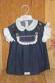 Zapf-Creation-Puppenkleid-Jeanskleid-Puppe-Kleidung-Kleid-Modepuppe-Bluse-Spitze