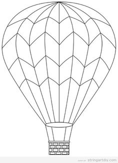 FREE Printable Hot Air Balloon Template | COLLAGE & SCRAPBOOKING ...
