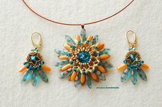 Beaded gerbera by Jessica handmade.