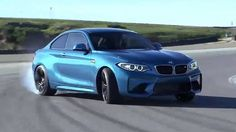 2017 BMW M2 Coupe Driving on Racetrack