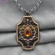 Dota2 Three Spirits Keychain Bezel Setting with Cubic Zirconia Antique Bronze Jewellery
