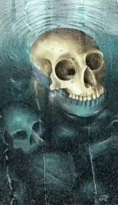 Halloween Live Wallpaper, Sugar Skull Artwork, Halloween Shadow Box, Skull Wallpaper, Dark Art Drawings, Mythical Creatures Art, Red Balloon, Creepy Art, Alpacas