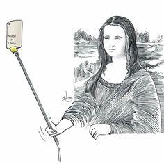 Selfie After Leonardo da Vinci