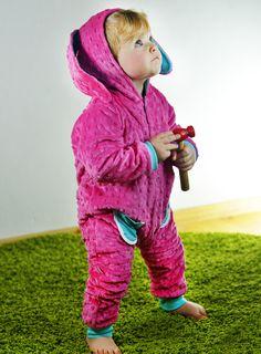 Süßer Kaninchen Overall für Kinder in pink / cozy bunny onesie for kids in pink by Samodobro via DaWanda.com