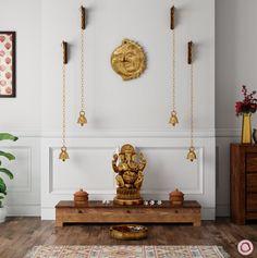 Pooja Room Door Design, Home Room Design, House Design, Design Bedroom, Indian Interior Design, Home Interior, Interior Designing, Apartment Interior, Interior Ideas