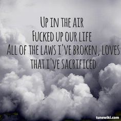 """-- #LyricArt for """"Up In The Air"""" by 30 Seconds To Mars"""