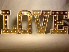 8 Lighted marquee letters LOVE set of 4 by JessiesGiftBoutique