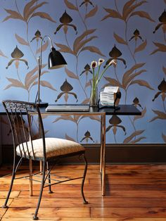 Loving this Cole Son wallpaper - Traditional Home®