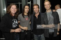 Band Extreme (Nuno Bettencourt, Pat Badger, Gary Cherone) and Scott Lipps attend Scott Lipps President of One Management's Birthday at Cooper Square Hotel on July 29, 2009 in New York City.