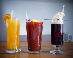 The brunch bunch. (Hot Hopscotch on the right is going to hit the spot on this snowy morning.) Brunch today til 2pm.