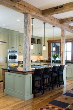 Wonderful Green Post Lights Kitchen Rustic With Undercabinet Lighting Traditional Kitchen  Islands And Carts