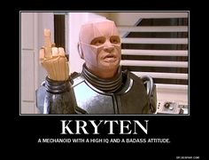 A little message from Kryten. To those Red Dwarf Haters! Welsh, Reaction Pictures, Robots, Gazpacho Soup, Films, British Comedy, Smoke, Cat, Robot