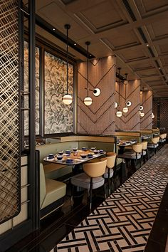 Decoration Restaurant, Deco Restaurant, Luxury Restaurant, Restaurant Lighting, Restaurant Banquette, Restaurant Plan, Restaurant Seating, Vintage Restaurant, Interior Design Awards