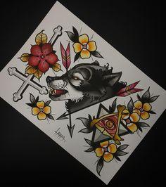 Amazing wolf tattoo design, so beautiful Artist from instagram Lukas.Adams #tattoo #wolf #design