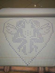Trendy Crochet Heart Stitch Pattern Punto Croce Ideas Knitting ProjectsKnitting For KidsCrochet ProjectsCrochet Ideas Filet Crochet, Thread Crochet, Crochet Doilies, Crochet Stitches, Cross Stitch Designs, Cross Stitch Patterns, Beading Patterns, Crochet Patterns, Graph Paper Art