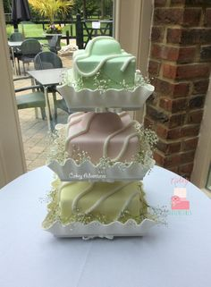 Giant french fancy wedding cake with edible cases!