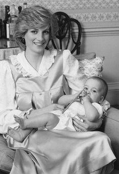 Princess Diana and Prince William - 1983