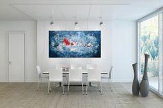 Öl Gemälde 'Cold as ice' 200x100cm
