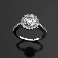 Platinum Halo Engagement Ring #engagementringexactlyyou..! Contact us now to design your own unique ring. peggy@studioc.co.za.