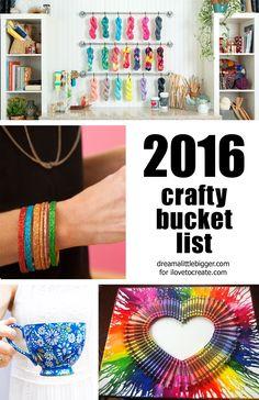 2016 Crafty Bucket List