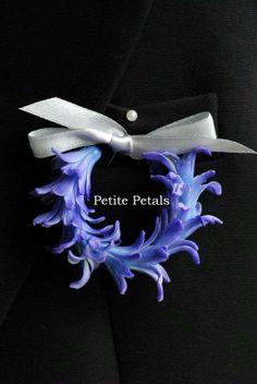 Hyacinth Wreath Boutonnière
