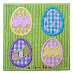 Egg Frame Applique - 3 Sizes! | Easter | Machine Embroidery Designs | SWAKembroidery.com Applique Time
