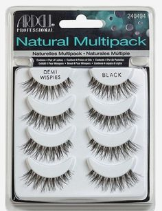 760b285ea6f Ardell Multipack Demi Wispies Fake Eyelashes, Pack of 2 Create a beautiful,  glamorous look Easy to apply and remove With proper care they are reusable
