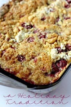 A Holiday Tradition.  All it takes is 4 easy ingredients to make this Cherry Dump Cake