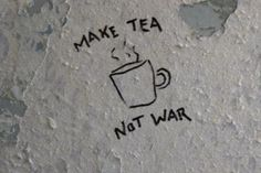 "≫∙∙ dazykid: ""Make tea not war"" An anti-war slogan that originated from the Vietnam war. Many activists used the slogan to campaign the end of all wars. Variation: make love not war. Suki Avatar, Cancer Rising, Tattoo Und Piercing, Iroh, Fire Nation, Tumblr, How To Make Tea, Avatar The Last Airbender, Bubble Tea"