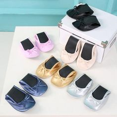Womens Foldable Ballet Flats Portable Travel Fold Up Shoes