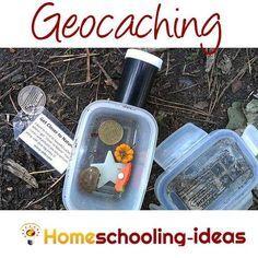 Geocaching for homeschool geography fun www.homeschooling-ideas.com #homeschool #geocaching