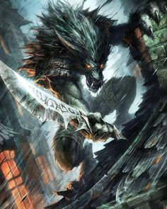 World of Warcraft - Worgen Infiltrator - Hearthstone Mythological Creatures, Fantasy Creatures, Mythical Creatures, Fantasy Images, Fantasy Artwork, Fantasy World, Dark Fantasy, Beast, Werewolf Art