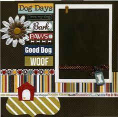 Dog Days - Premade Scrapbook Page