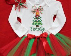 Babys Christmas outfit, toddler girl christmas outfit, girls christmas outfit, Personalized christmas shirt, Personalized Christmas outfit