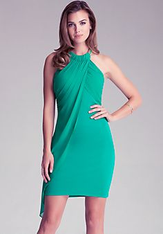 Shop bebe for: Dresses - Draped Overlay Dress - Glamour girl. Stunning fitted dress that looks and feels amazing, enhanced by a crisscross drape overlay. Sexy Cocktail Dress, Womens Cocktail Dresses, Party Dresses For Women, Club Dresses, Dresses For Work, Green Evening Dress, Women's Evening Dresses, 30th Birthday Outfit, Fabulous Dresses