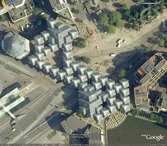Cube Houses By Piet Blom - site plan | Designalmic