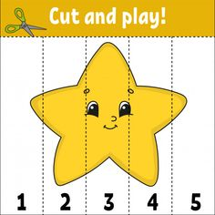 cut and play. game for kids. activity page. puzzle for children. riddle for preschool. Numbers Preschool, Preschool Lesson Plans, Learning Numbers, Free Preschool, Fun Activities For Toddlers, Christmas Activities For Kids, Video Games For Kids, Shapes Worksheet Kindergarten, Kindergarten Activities