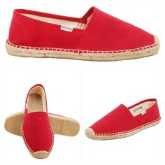 Soludos Original Espadrille Dali Red Soludos Dali Espadrilles in RedGet lost in the sand and sidewalks!The Dali features traditional espadrille details like natural jute binding and braided soles set on a bed of rubber for long-lasting wear. Team them with anything from board shorts to washed denimfor endless summer spirit on the beach or in the city. Shoe Width:  Medium Size:  9 M Color:  RED Soludos logos˙ Sturdy canvas upper˙ Jute toe bumper˙ Braided jute insoles˙ Rubber outsole˙ Urban…