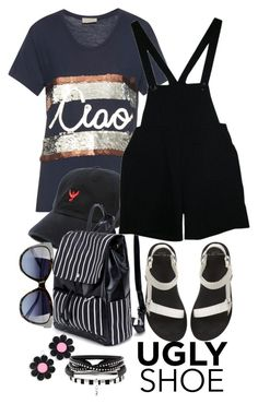 """""""Untitled #109"""" by faceless-girl on Polyvore featuring Lanvin, 10 Crosby Derek Lam, American Apparel, Love Moschino, Marina Fini and uglyshoes"""