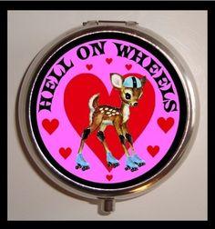 Hell on Wheels Baby Doe Deer Kawaii Roller by sweetheartsinner, $7.50