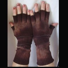 Handmade Distressed Brown Post Apocalyptic Wasteland Gloves Mad Max Fallout