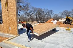 SIPs can be moved by two men Sip House, Handicap Accessible Home, Sips Panels, Framing Construction, Structural Insulated Panels, Metal Garages, Diy Shed Plans, Shed Homes, Metal Panels