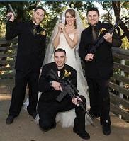 gun theme wedding photo   gangster wedding easter bunny wedding the slugger s bride