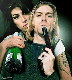Impossible Celebrity Couples  Amy Winehouse & Kurt Cobain